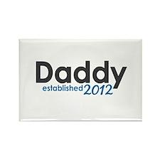 Daddy Established 2012 Rectangle Magnet
