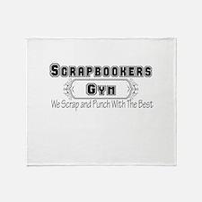 Scrapbookers Gym Throw Blanket
