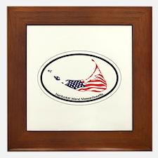 Nantucket MA - Oval Design Framed Tile