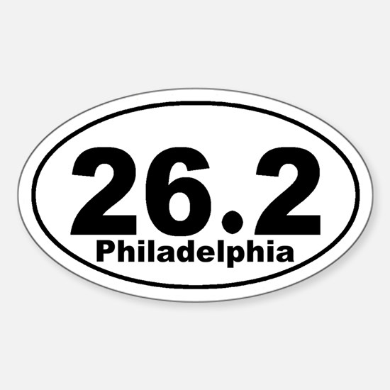 26.2 Philadelphia Marathon St Sticker (Oval)