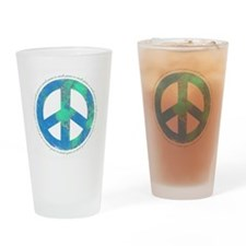 Peace On Earth Drinking Glass
