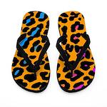 Corey Tiger 80s Leopard Print Flip Flops