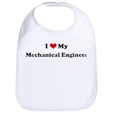 I Love Mechanical Engineer Bib