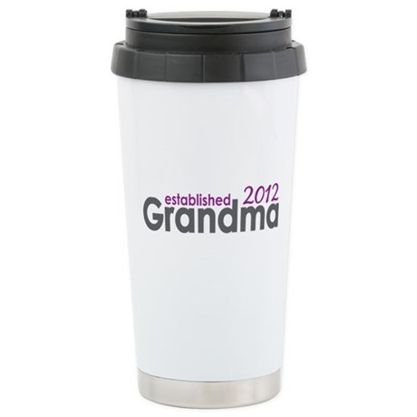 Grandma Est 2012 Stainless Steel Travel Mug