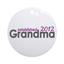 Grandma Est 2012 Ornament (Round)