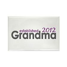 Grandma Est 2012 Rectangle Magnet