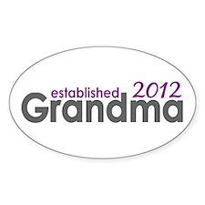 Grandma Est 2012 Decal