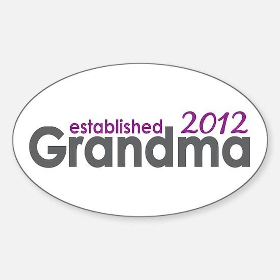 Grandma Est 2012 Sticker (Oval)