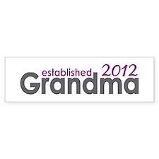 Grandma Est 2012 Bumper Sticker