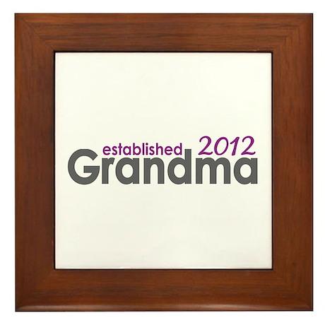 Grandma Est 2012 Framed Tile