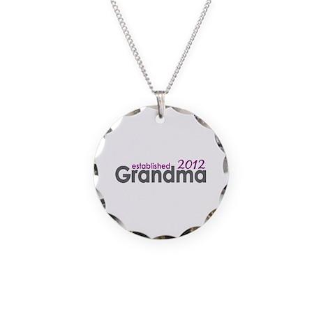 Grandma Est 2012 Necklace Circle Charm