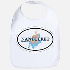 Nantucket MA - Oval Design Bib