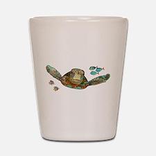 Flying Sea Turtle Shot Glass