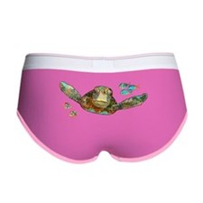Flying Sea Turtle Women's Boy Brief