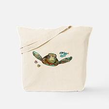 Flying Sea Turtle Tote Bag