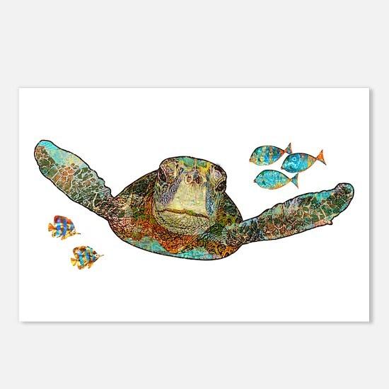 Flying Sea Turtle Postcards (Package of 8)