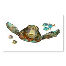 Flying Sea Turtle Decal