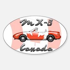 Miata MX5 Canada Sticker (Oval)