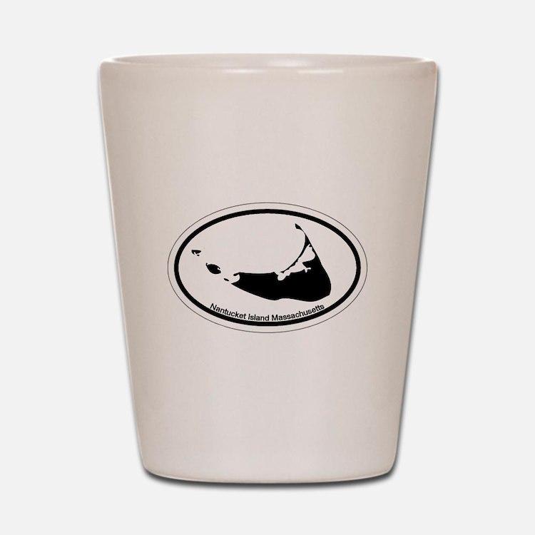 Nantucket MA - Oval Design Shot Glass