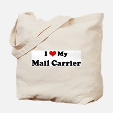 I Love Mail Carrier Tote Bag