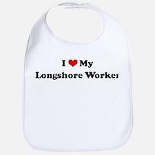 I Love Longshore Worker Bib