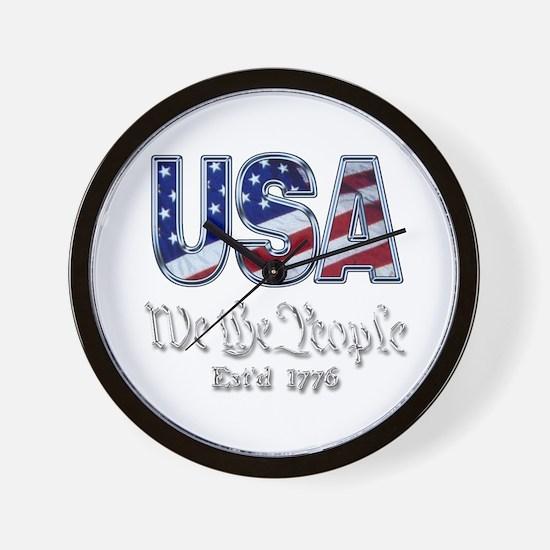 USA Wall Clock