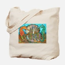 Sea Horse Castle Tote Bag