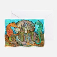 Sea Horse Castle Greeting Cards (Pk of 10)