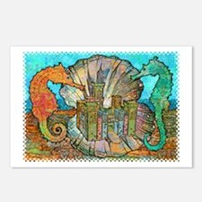 Sea Horse Castle Postcards (Package of 8)
