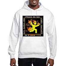 FireGuy Grey TShirt Hoodie