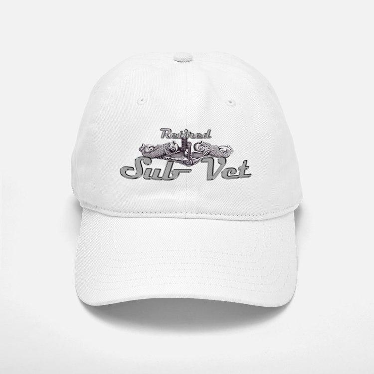 retired sub vet Gold Baseball Baseball Cap