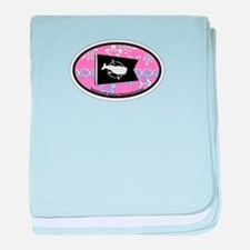 Nantucket MA - Oval Design baby blanket