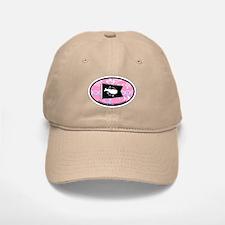 Nantucket MA - Oval Design Baseball Baseball Cap