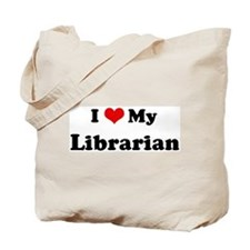 I Love Librarian Tote Bag