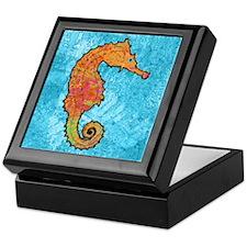 Orange Seahorse Keepsake Box