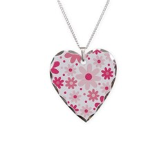 Pretty In Pink Flowers Necklace