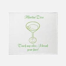 Martini Diva Throw Blanket