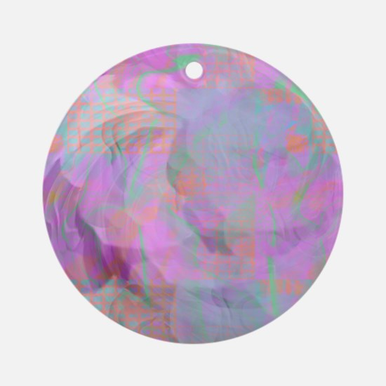 Violet Surprise Christmas Ornament (Round)