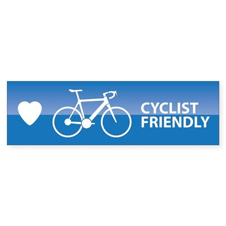 Cyclist Friendly Bumper Sticker