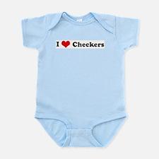 I Love Checkers Infant Creeper