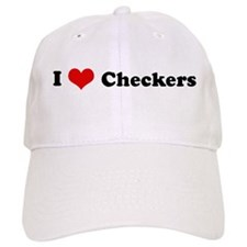 I Love Checkers Baseball Cap