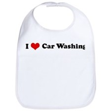 I Love Car Washing Bib