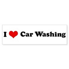 I Love Car Washing Bumper Bumper Sticker