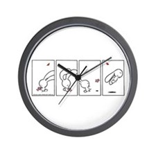 Plume Jumping for Teddy Wall Clock