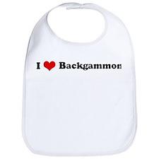 I Love Backgammon Bib