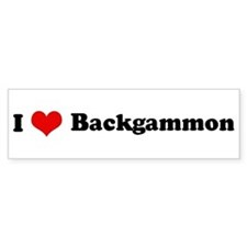 I Love Backgammon Bumper Bumper Sticker