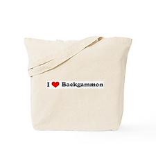 I Love Backgammon Tote Bag