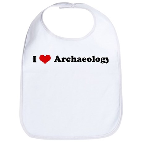 I Love Archaeology Bib