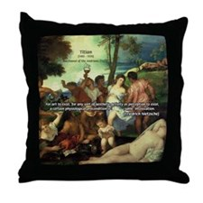 Intoxication Nietzsche Art Throw Pillow