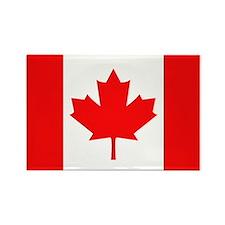 Canadian National Flag Rectangle Magnet